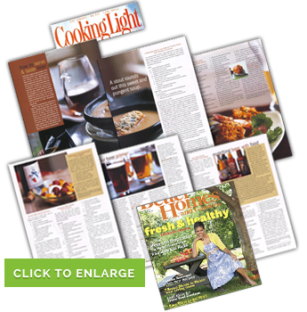 Cooking Light and Better Homes and Gardens Magazine